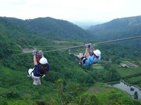 Canopy zip-lining at San Lorenzo