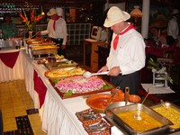 Typical Tico cuisine served buffet style